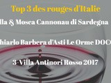 Vins rouges d'Italie : Top 3 de 2020